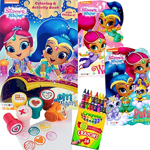 Shimmer Shine Coloring And Board Books Set