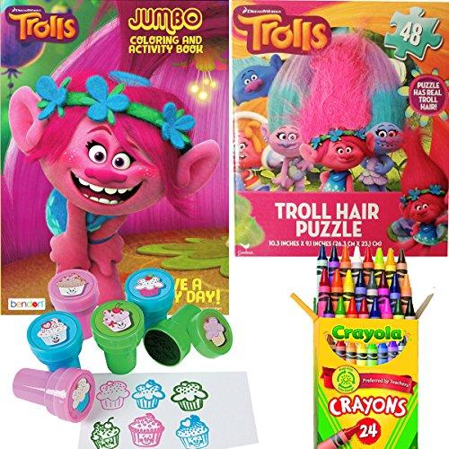 Trolls Arts And Crafts Coloring Stamper Activity Book Set